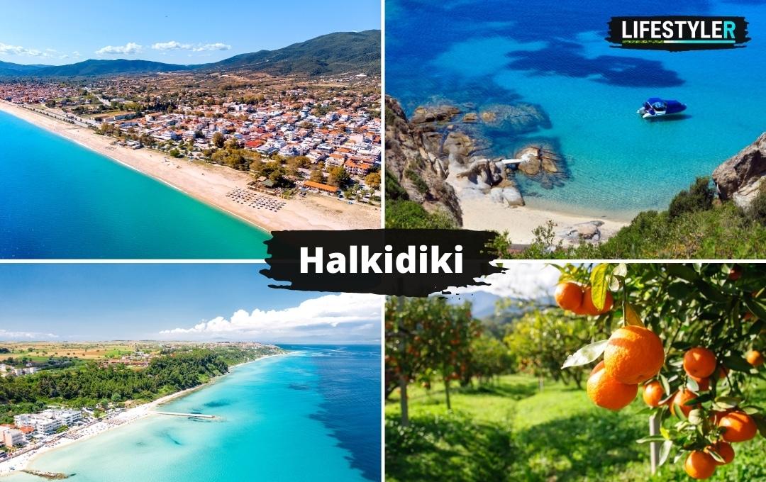 Półwysep region Halkidiki Grecja